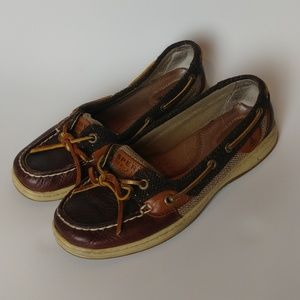 Sperry classic dark brown burgundy boat shoes